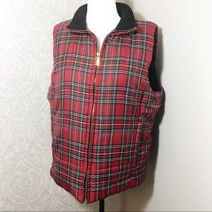 Chaps plaid puffer vest.